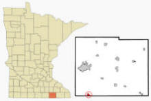 Location of Lyle Minnesota