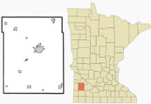 Location of Lynd, Minnesota