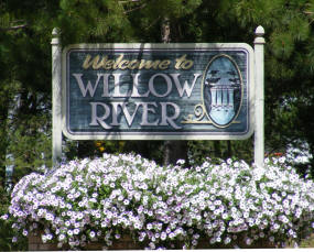 Willow River Minnesota Welcome Sign