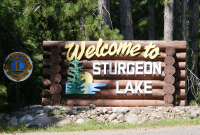 Sturgeon Lake Minnesota Welcome Sign
