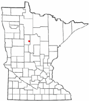 Location of Akeley, Minnesota
