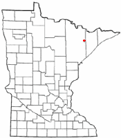 Location of Babbitt, Minnesota