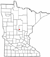 Location of Baxter, Minnesota