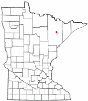 Location of Biwabik, Minnesota