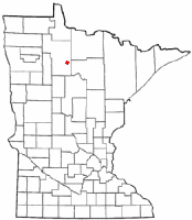 Location of Blackduck, Minnesota