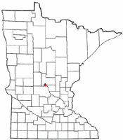 Location of Bowlus, Minnesota