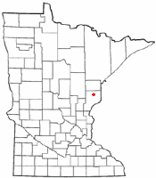 Location of Bruno, Minnesota