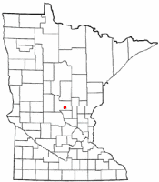Location of Buckman, Minnesota