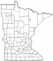 Location of Chisholm, Minnesota