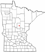 Location of Crosby, Minnesota