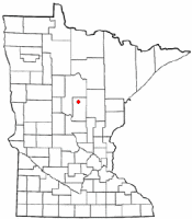 Location of Crosslake, Minnesota