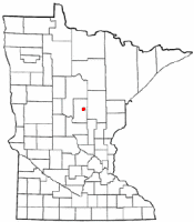 Location of Cuyuna, Minnesota