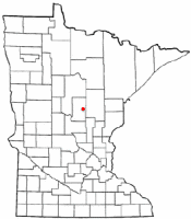 Location of Deerwood, Minnesota