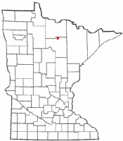 Location of Effie, Minnesota