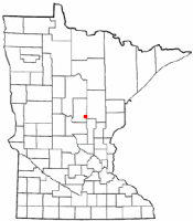 Location of Garrison, Minnesota