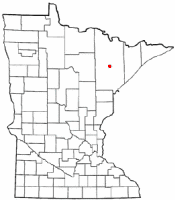 Location of Gilbert, Minnesota