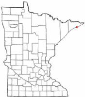 Location of Grand Marais, Minnesota