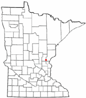Location of Grasston, Minnesota