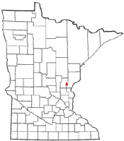 Location of Henriette, Minnesota