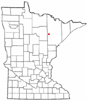Location of Hibbing, Minnesota