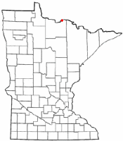 Location of International Falls, Minnesota