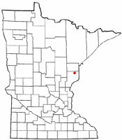 Location of Kerrick, Minnesota