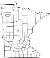 Location of Laporte, Minnesota