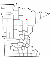 Location of Nashwauk, Minnesota