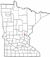 Location of Ogilvie, Minnesota