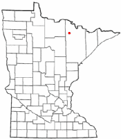 Location of Orr, Minnesota