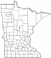 Location of Pequot Lakes, Minnesota