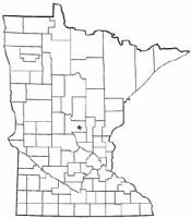 Location of Pierz, Minnesota