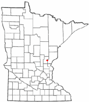 Location of Quamba, Minnesota