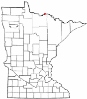 Location of Ranier, Minnesota