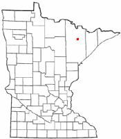 Location of Soudan, Minnesota