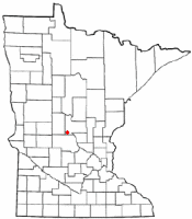 Location of Upsala, Minnesota