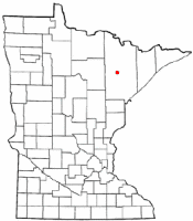 Location of Virginia, Minnesota