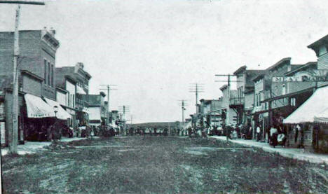 Main Street, Mabel Minnesota, 1915