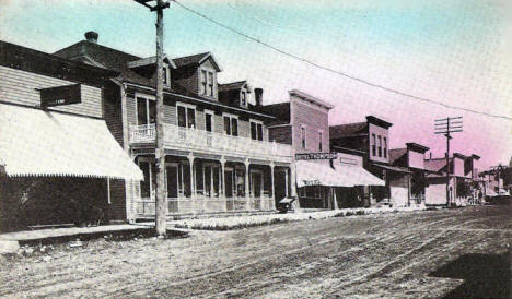 West side of Main Street, Mabel Minnesota, 1911