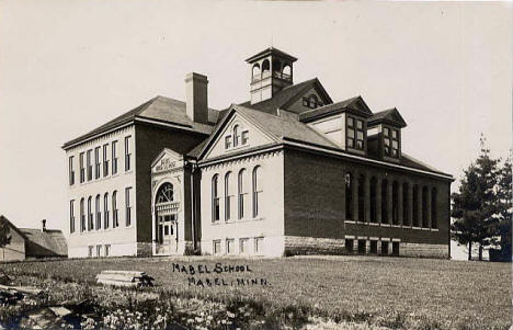 Mabel School, Mabel Minnesota, 1914