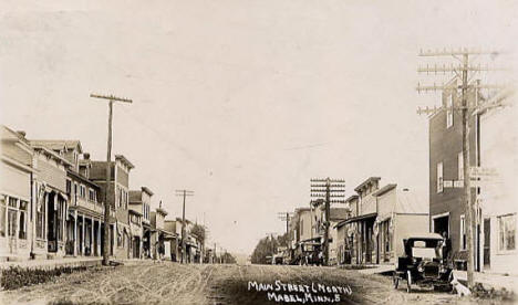 Main Street North, Mabel Minnesota, 1915