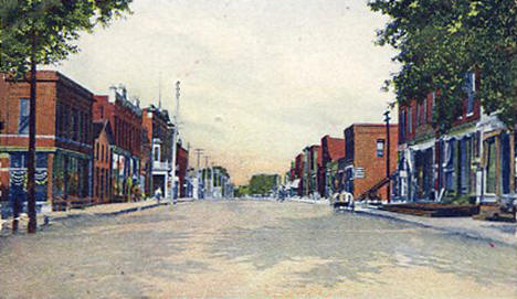 Main Street looking west, Madelia Minnesota, 1908