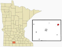 Location of Madelia, Minnesota