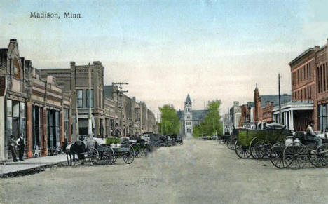 Street View, Madison Minnesota, 1909