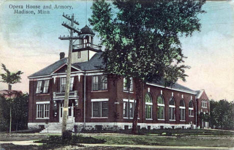 Opera House and Armory, Madison Minnesota, 1909