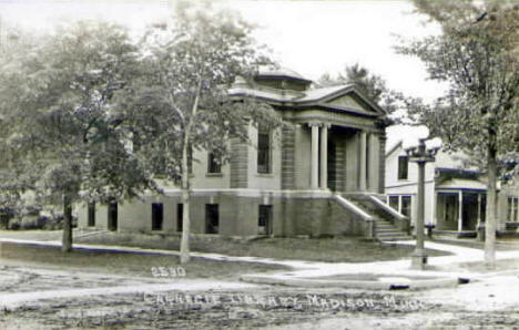 Carnegie Library, Madison Minnesota, 1930's