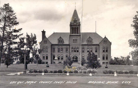 Lac Qui Parle County Court House, Madison Minnesota, 1930's