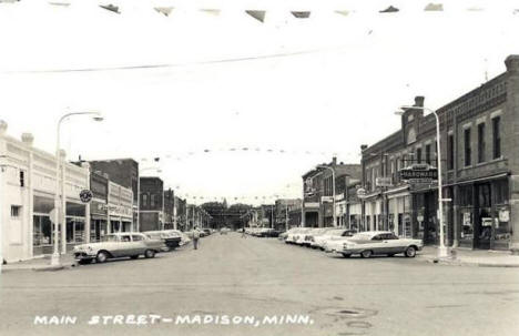 Main Street, Madison Minnesota, 1962