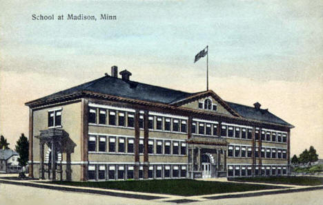 School, Madison Minnesota, 1910's
