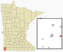 Location of Magnolia, Minnesota